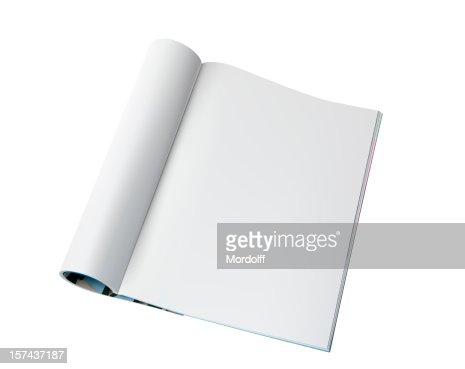 Página de revista em branco
