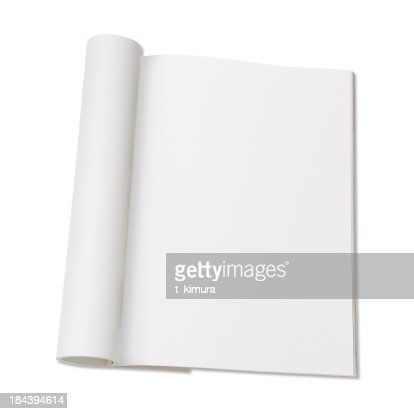 Blank page of magazine