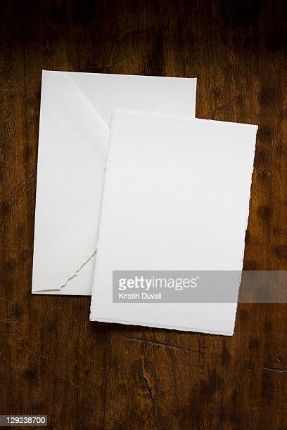 Blank paper and envelope with copy space