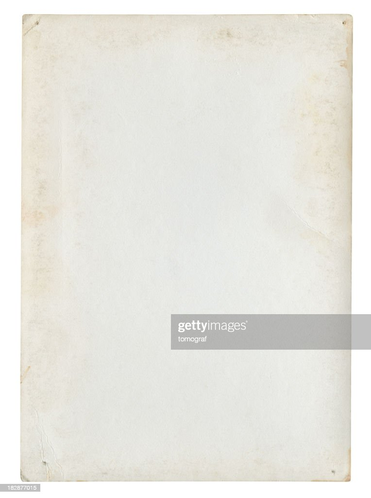 Blank Paper Background Isolated (Clipping Path Included) : Stock Photo  Blank Paper Background