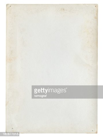 Blank paper background isolated (Clipping path included)