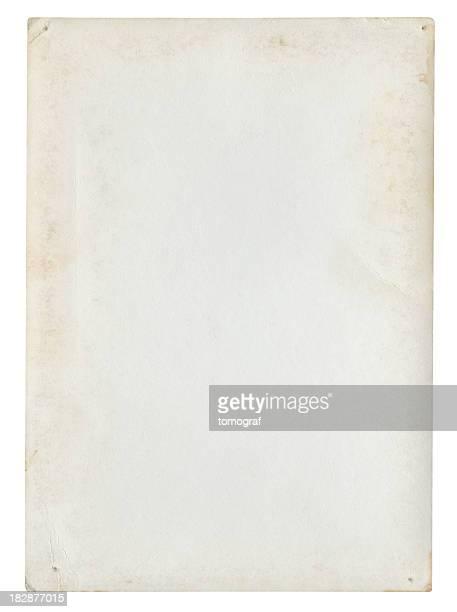Sfondo di carta vuoto isolato (percorso clip inclusa
