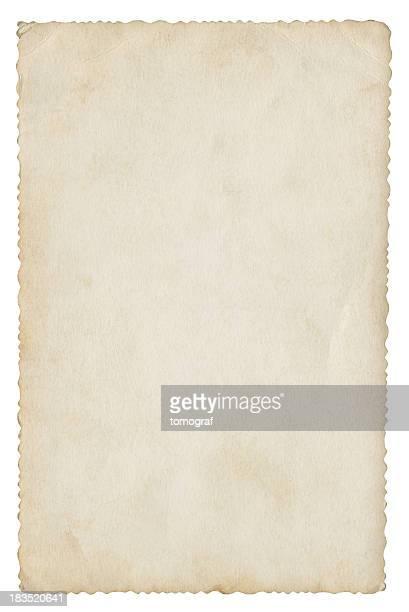 Leere Papier isoliert (clipping-Pfad enthalten)