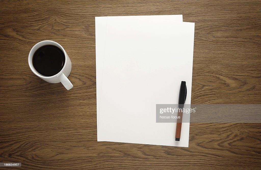 Blank paper on business desk