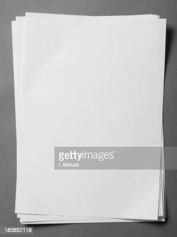 ブランクの紙