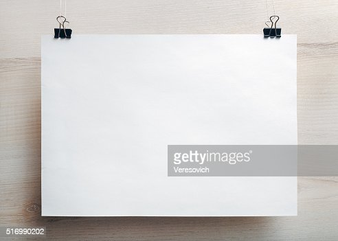 Blank paper poster : Stock Photo