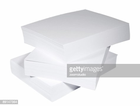 Blank paper stack : Stock Photo