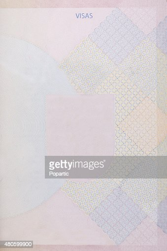 Blank passport page : Stock Photo