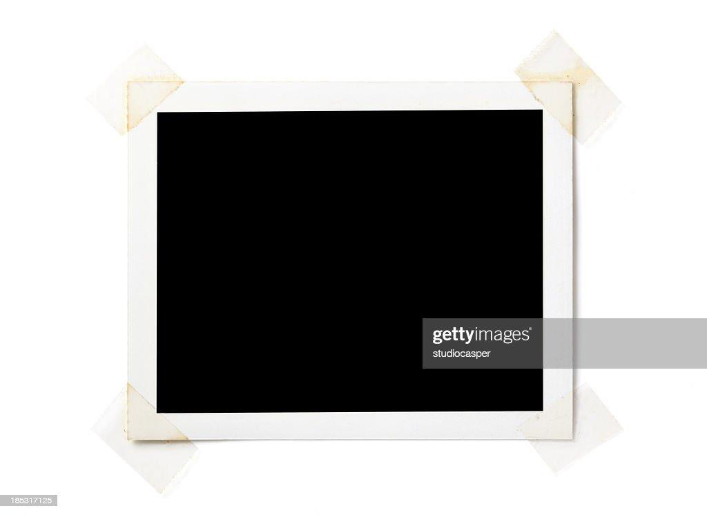 Blank  photo on white