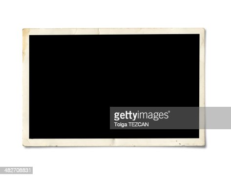 Blank photo paper