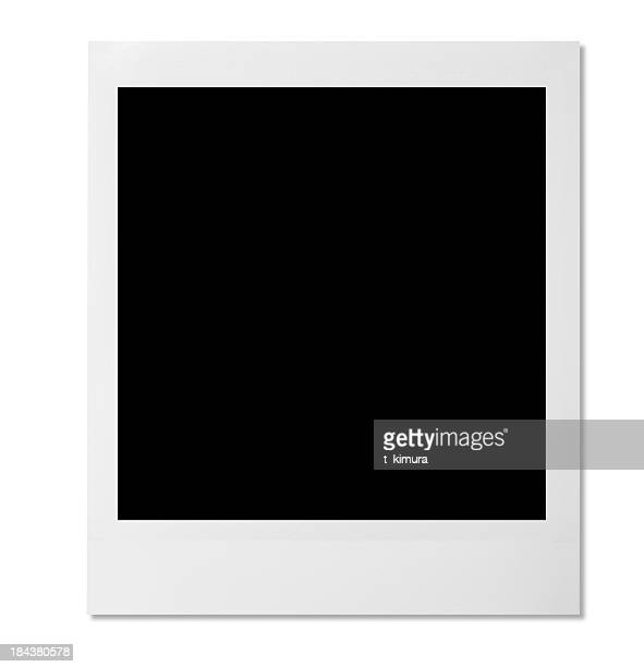 Blank photo template on white background