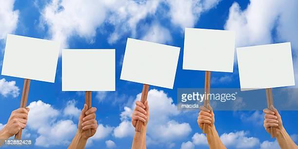 blank placards