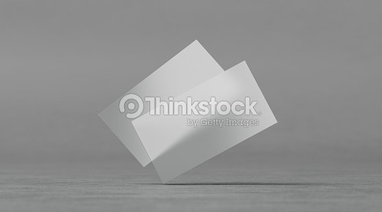 Maquettes De Cartes Visite Transparentes En Plastique Blanc Photo