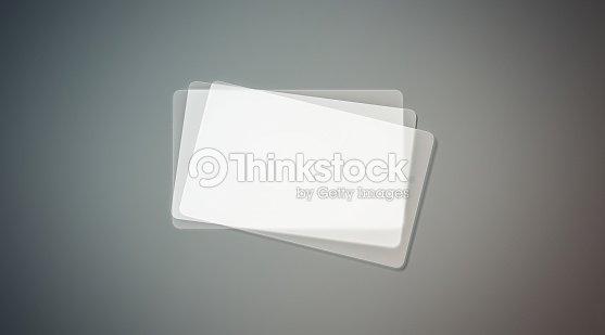 Cartes De Visite Transparentes En Plastique Vides Sempilent Simule Photo