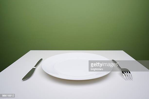Blank plate on a table