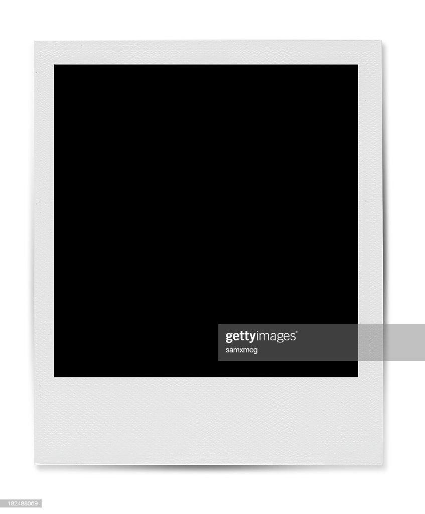 Blank Polaroid-style photo template
