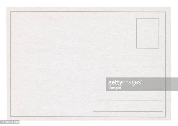 A blank post card isolated on white
