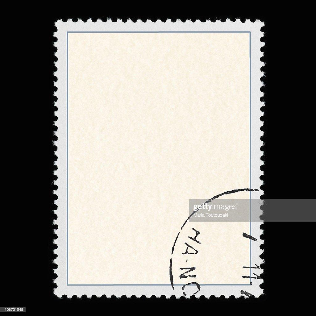 Blank postage stamp : Stock Photo