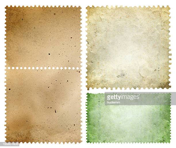 Blank postage stamp textured background isolated