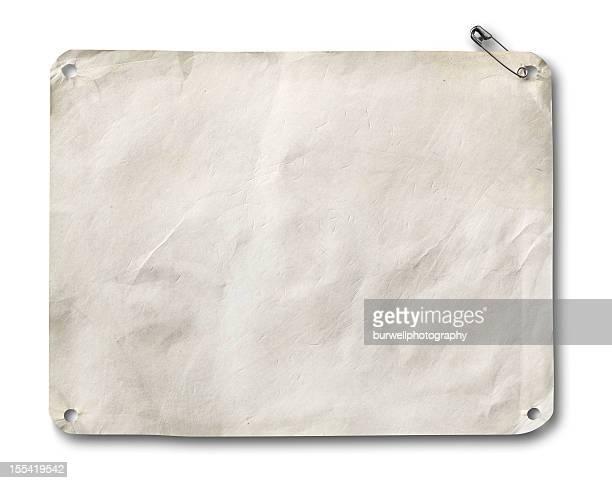Corrida em branco ou papel Número de Identificação de Corredor de Maratona no branco com sombra