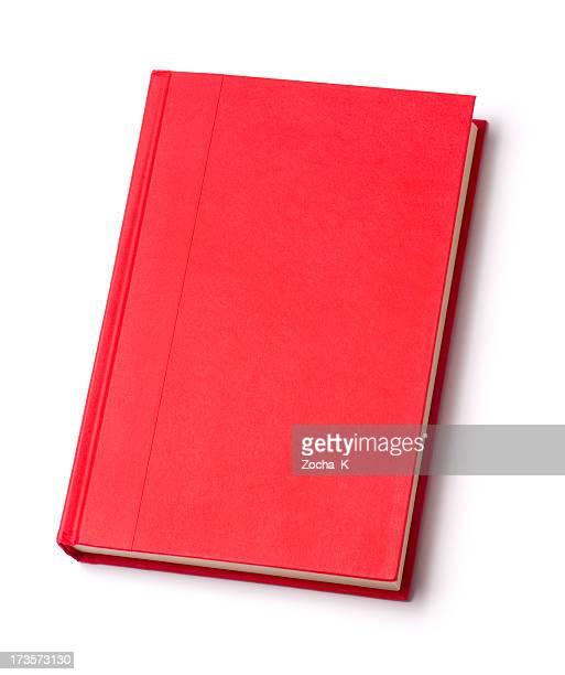 Blank red hardback book