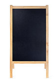Blank Restaurant Menu Blackboard Sign Easel Frame with Copy Space