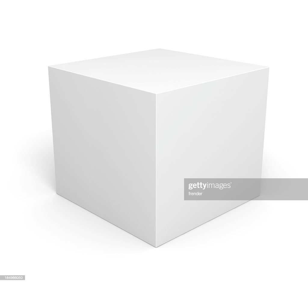Blank retail white box