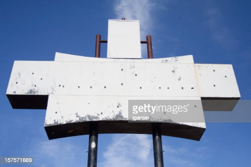 blank retro sign stock photo getty images