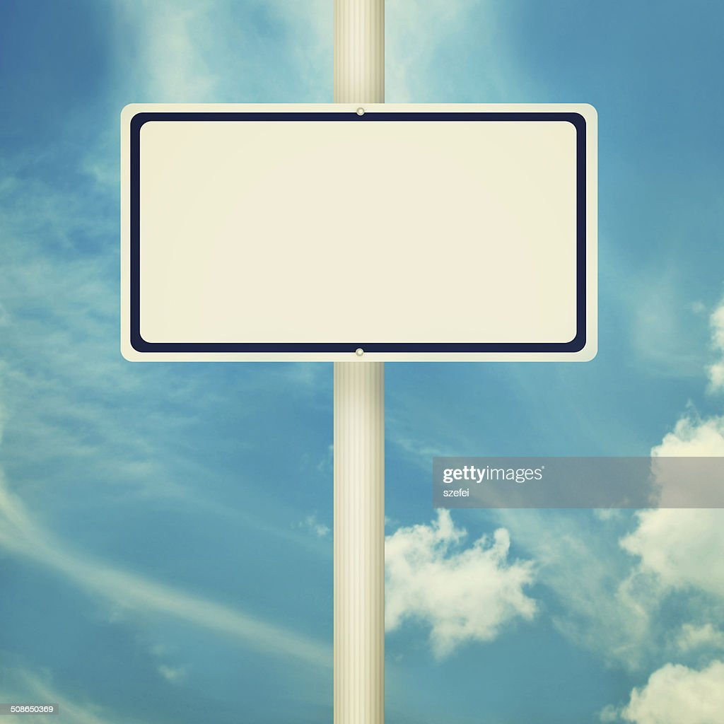 Blank road sign : Stock Photo