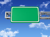 Blank Road Sign with Sky