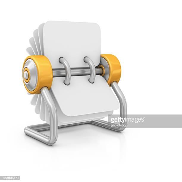 blank rotary card file