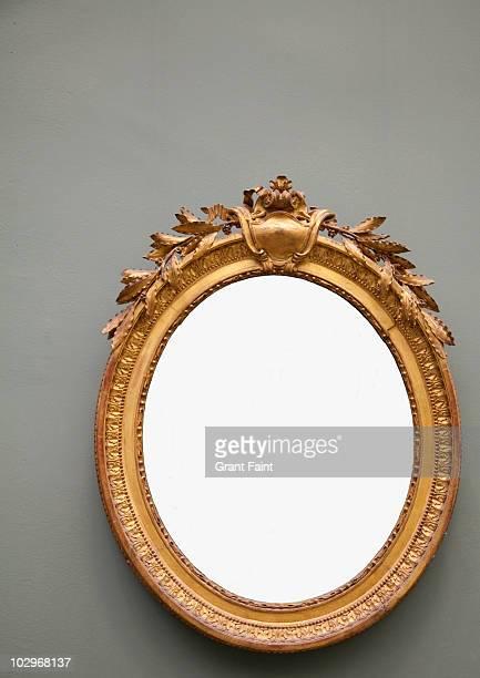 Blank round frame.