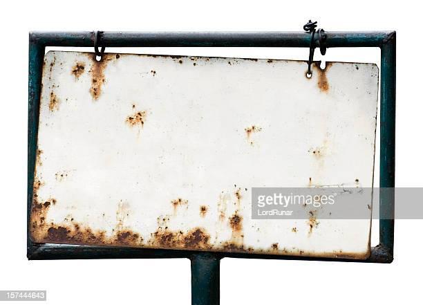 Blank rusty sign