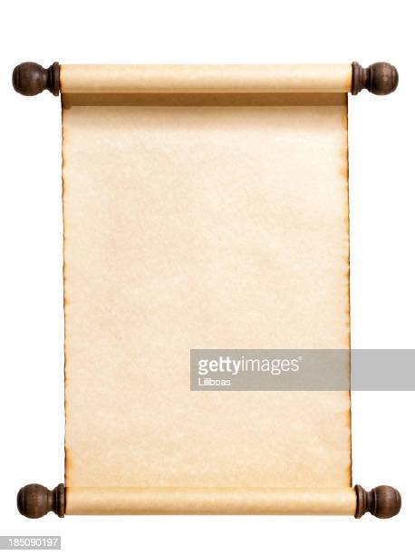 Blank Scroll Isolated on White.