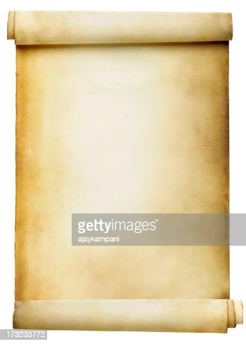 Blank Scroll Stock Photo | Getty Images
