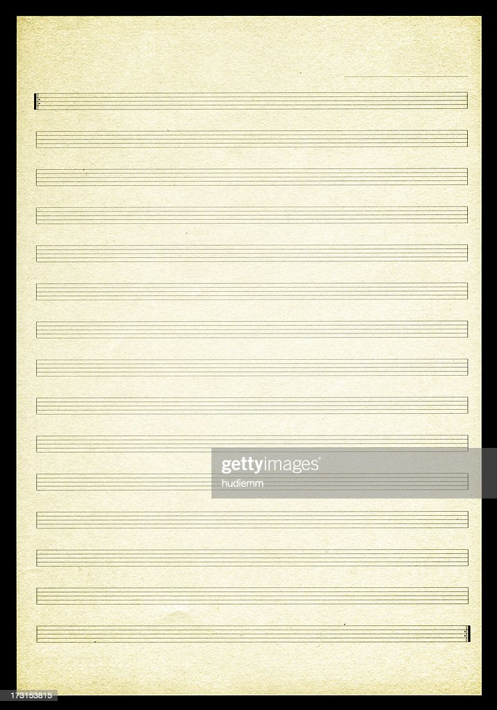 Blank Sheet Music paper textured background