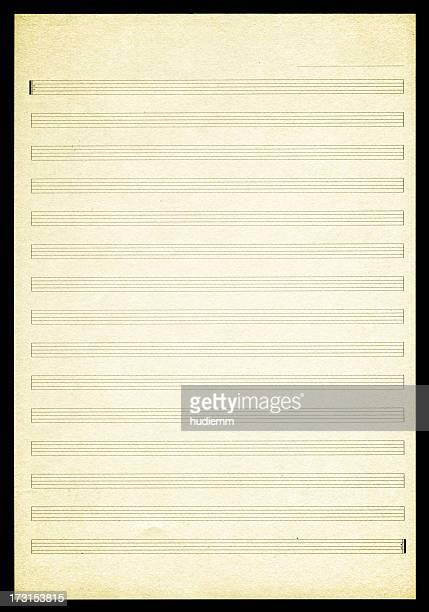 空白のシートの音楽のテクスチャ背景