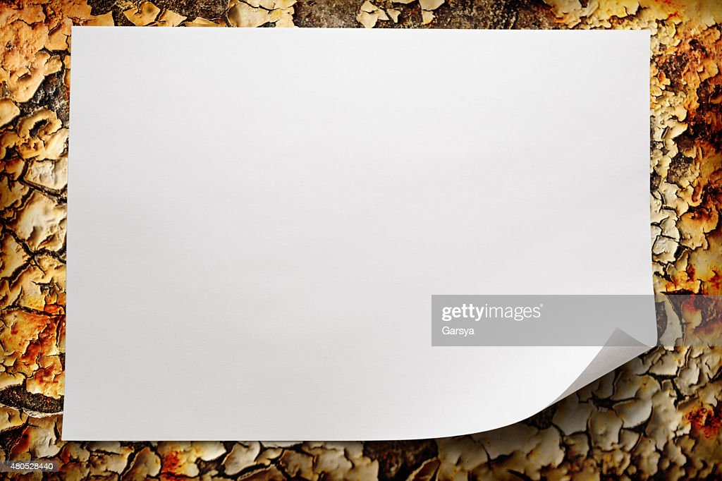 Blank sheet of paper : Stock Photo