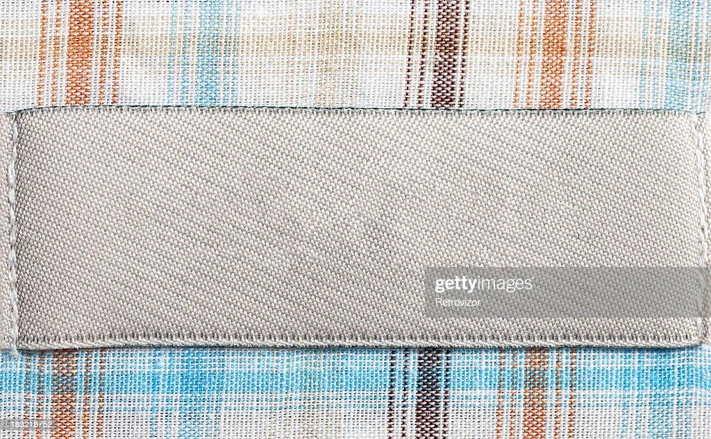 Blank shirt label