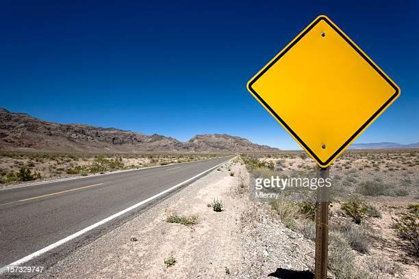 Blank Sign Desert Highway