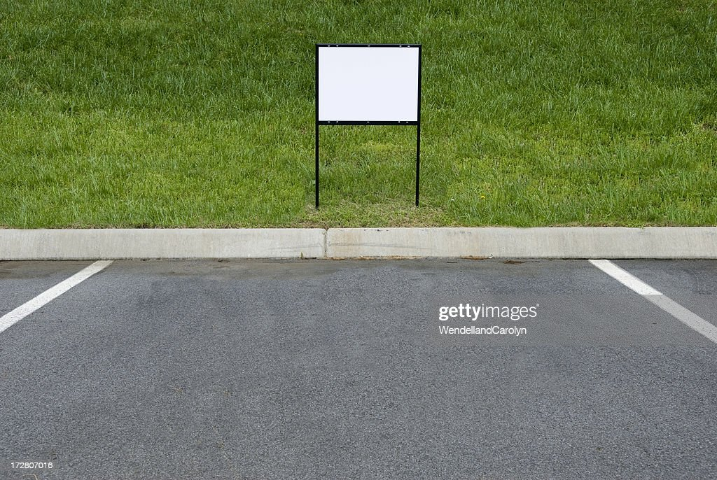 Blank Sign For Parking Place