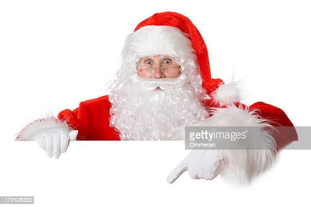 Blank sign - Santa (on white)