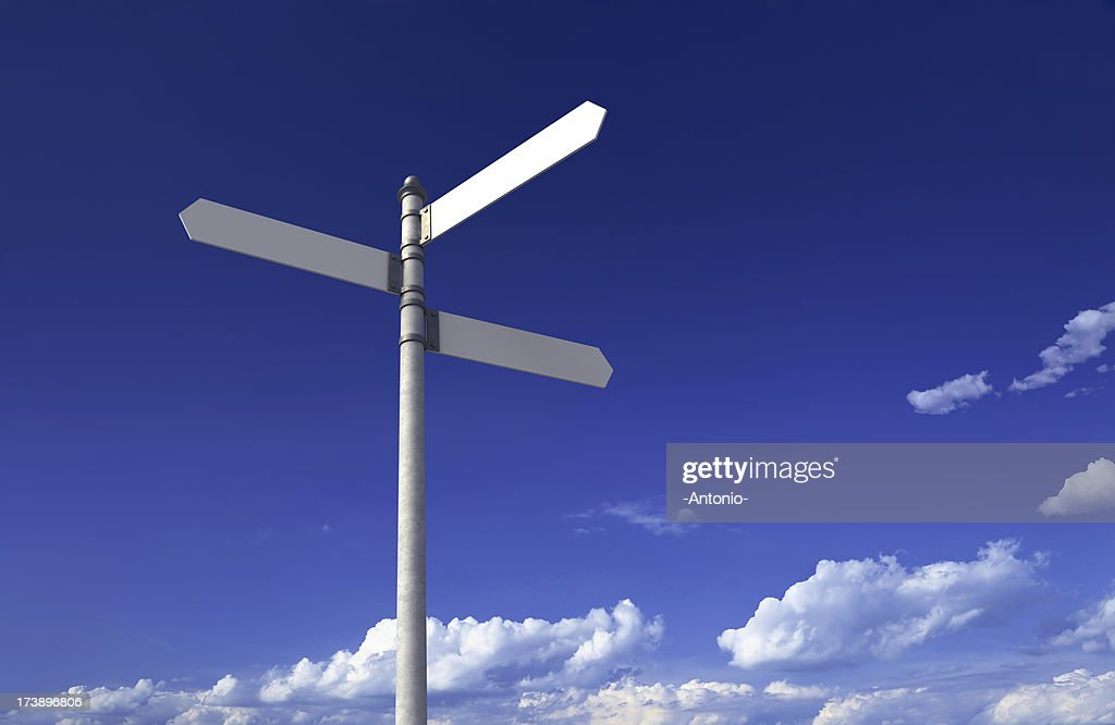 Blank signpost : Stock Photo