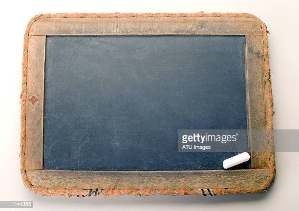 blank slate with chalk