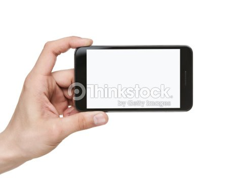 Blank smart phone with clipping path : Stock Photo