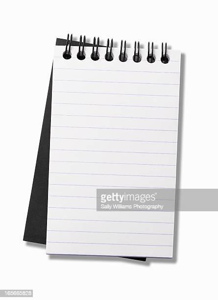 A blank spiral bound notebook