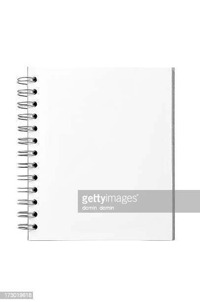 Blank Spiral Notepad isolated on white, clipping path included