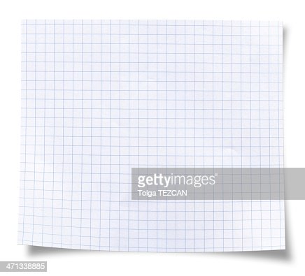 Blank square rules lined paper
