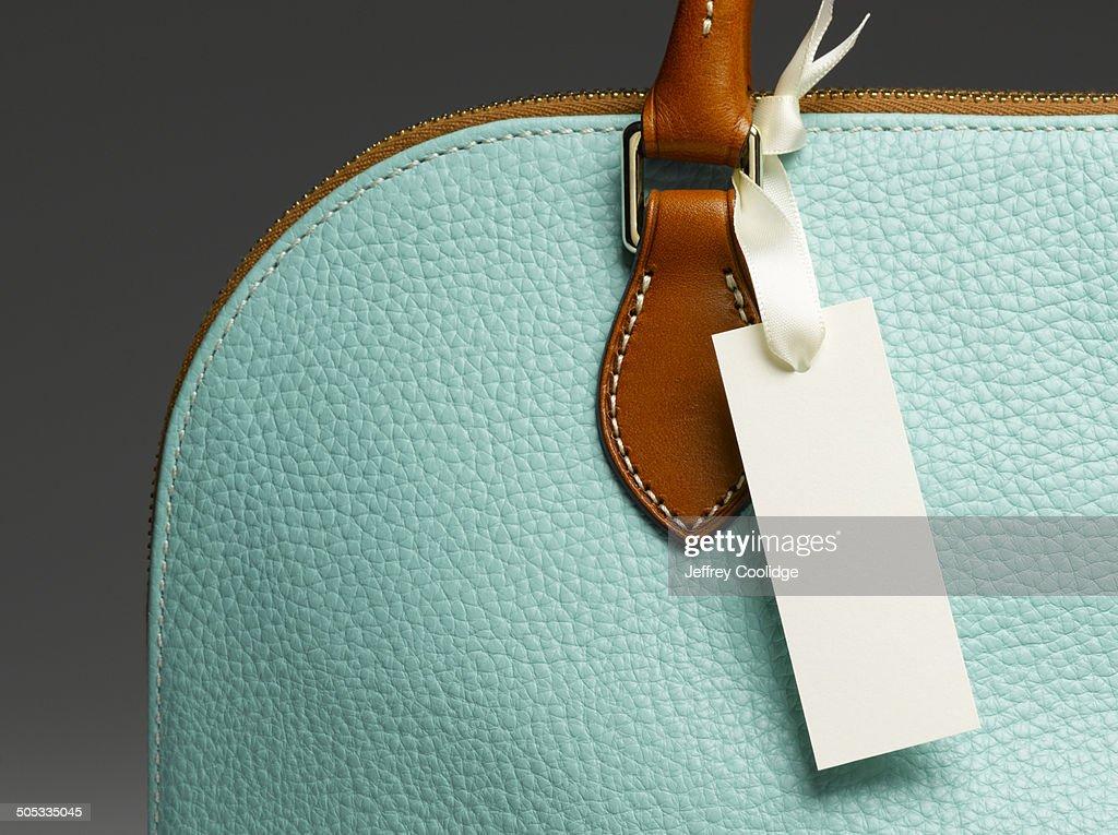 Blank Tag on Handbag