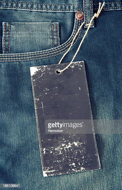 Blank tag on jeans